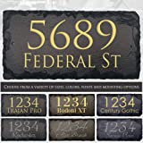 """Sassy Squirrel Beautifully Handcrafted and Customizable Slate Home Address Plaque (12""""x6"""", 12""""x8"""", 18""""x8"""", or 16""""x10…"""