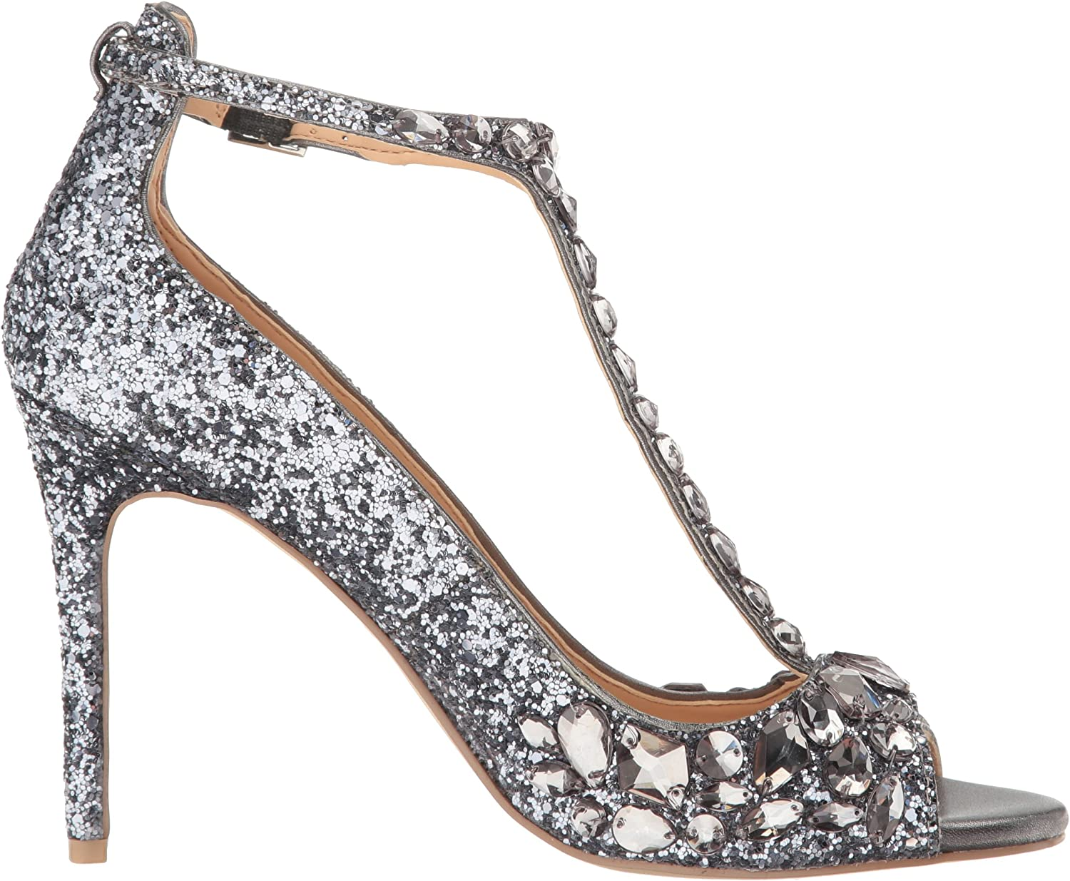 Jewel Badgley Mischka Damen Sandalen, Smokey Smoke Glitter