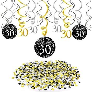 Howaf 30 cumpleaños Colgar Remolino decoración de Techo ...