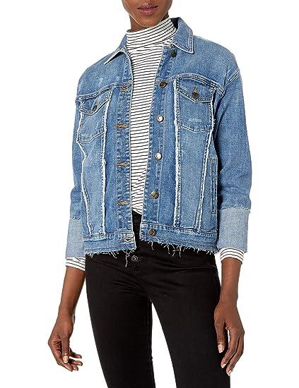 Joes Jeans Womens Belize Frayed Detail Trucker Jacket in Yenz