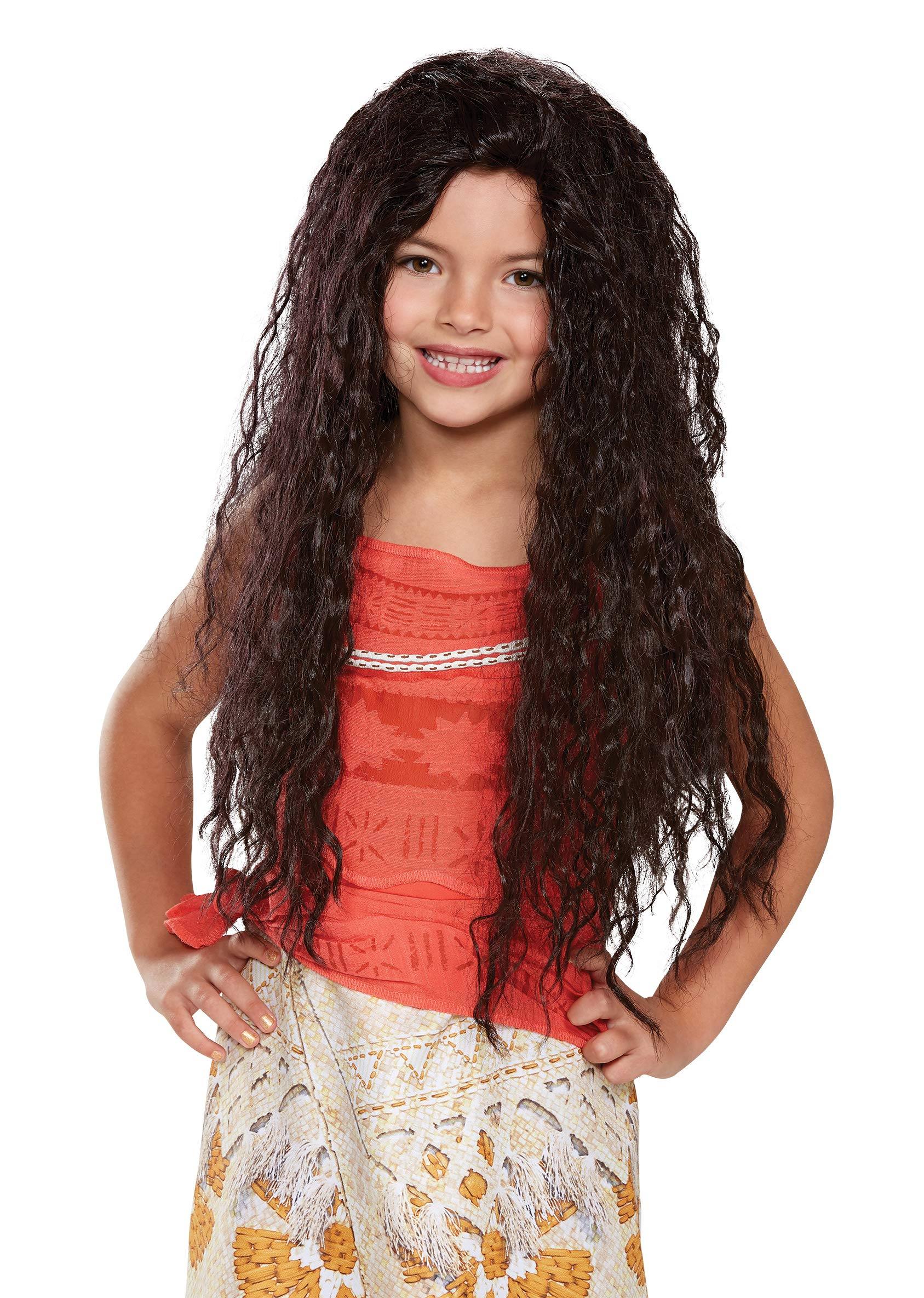 Disguise Girl's Moana Deluxe Child Wig(4 Pack)