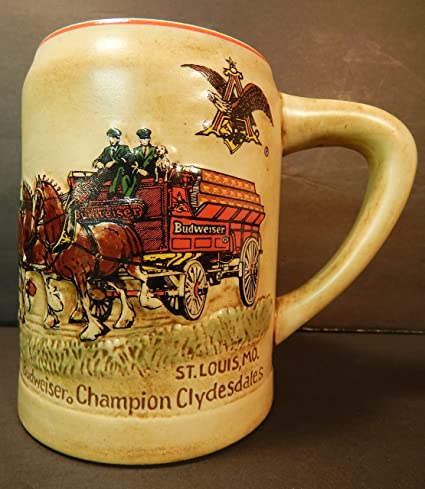 1980 budweiser cs19 1st holiday christmas stein champion clydesdales - Budweiser Christmas Steins