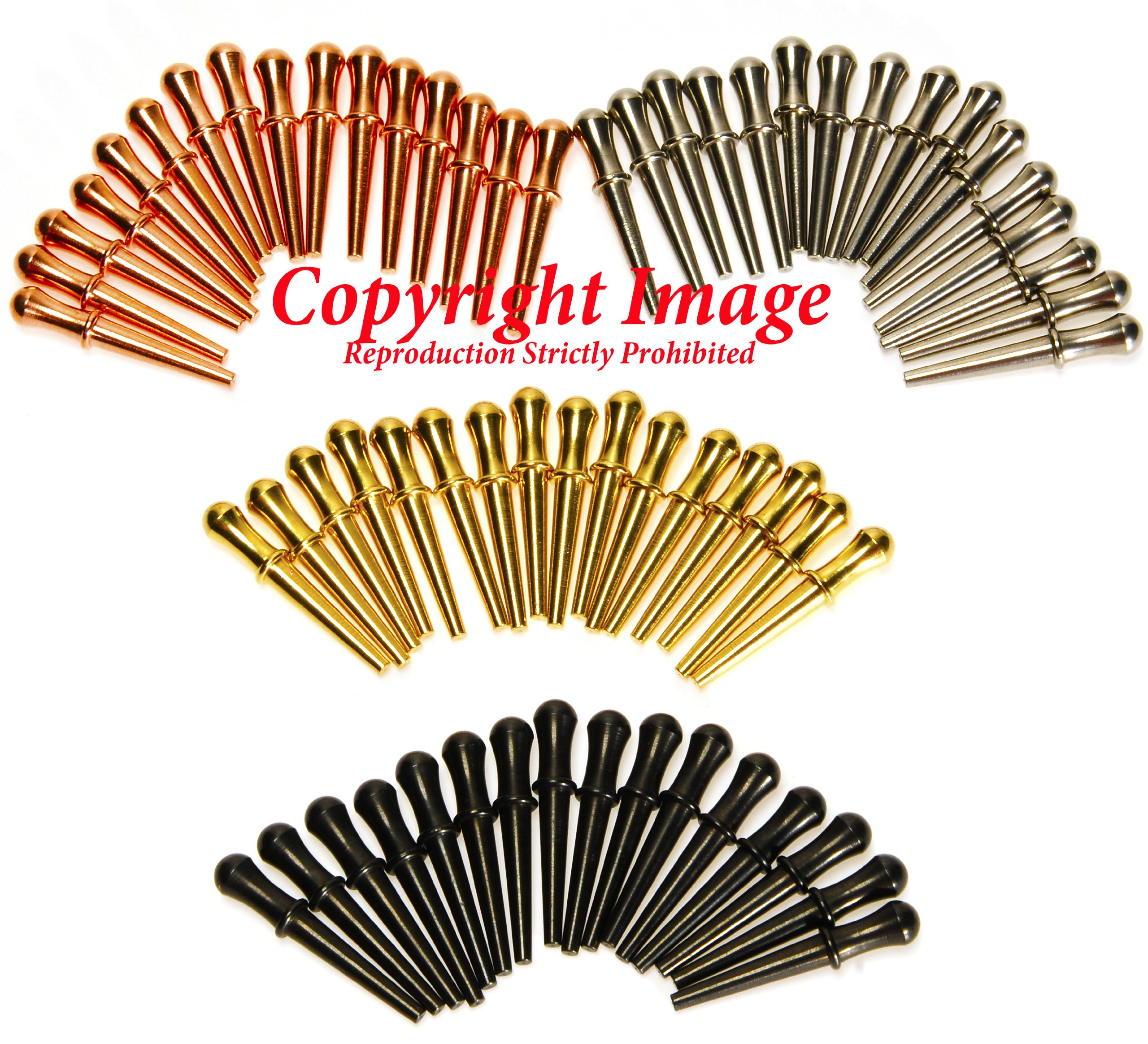 Deluxe Metal Cribbage Pegs _ Friends and Family Pack _ Bundle of 60 pegs