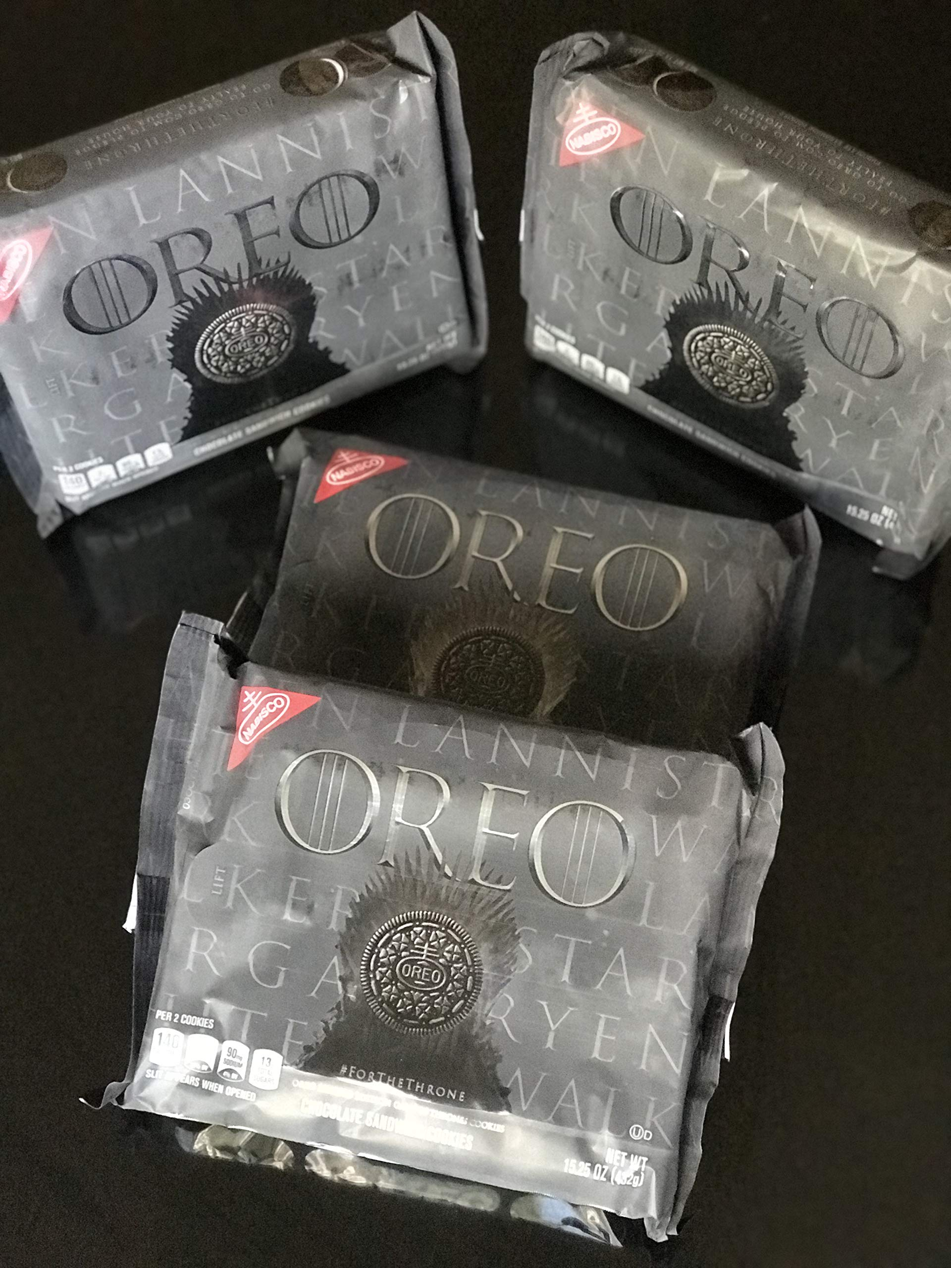 OREO Limited Edition Game of Thrones Themed Classic Chocolate Sandwich Cookies, 15.25 oz. - 2 pack