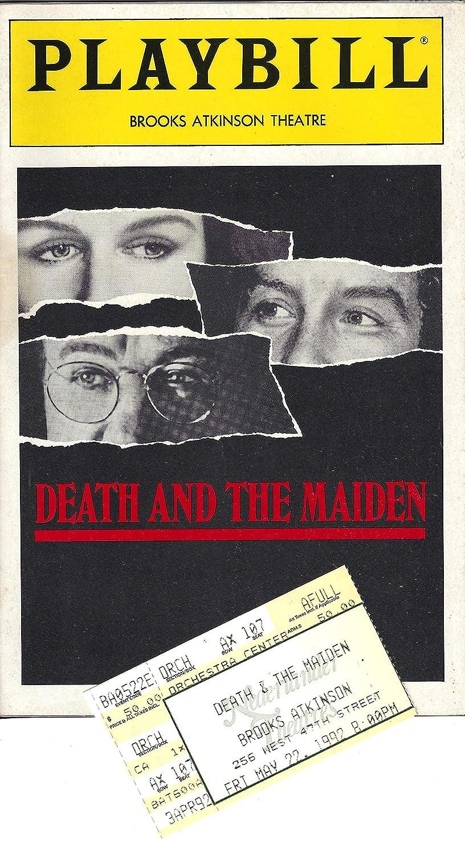 Glenn Close\'DEATH AND THE MAIDEN\' Gene Hackman/Richard Dreyfuss 1992 Broadway Playbill with Ticket Stub