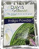 Davis Finest Organic Indigo Powder Hair Dye–puro e naturale capelli utilizzato con Henna raggiungere nero marrone o rame capelli da colorare–Chemical Ppd free e senza ammoniaca (100g)