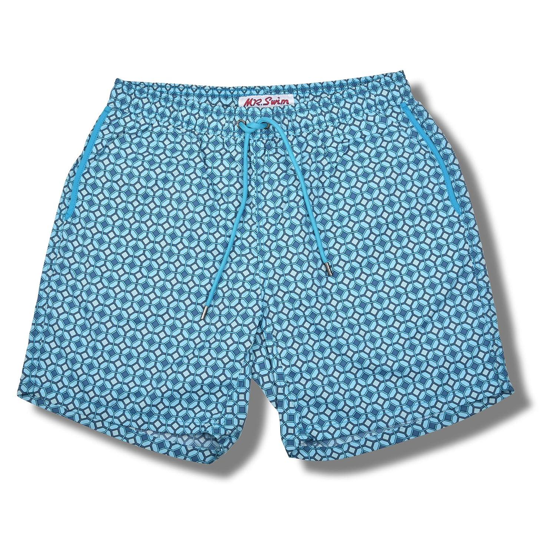 Quick Dry Bathing Suit with Pockets 7.5 Inseam Swim Mens Swim Trunks w//Mesh Lining Mr