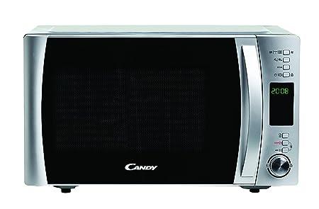 Candy CMXC25DCS - Horno microondas combinado con grill y cook in app, 25 L, 40 Programas Automáticos, 900 W / 1000 W, color silver