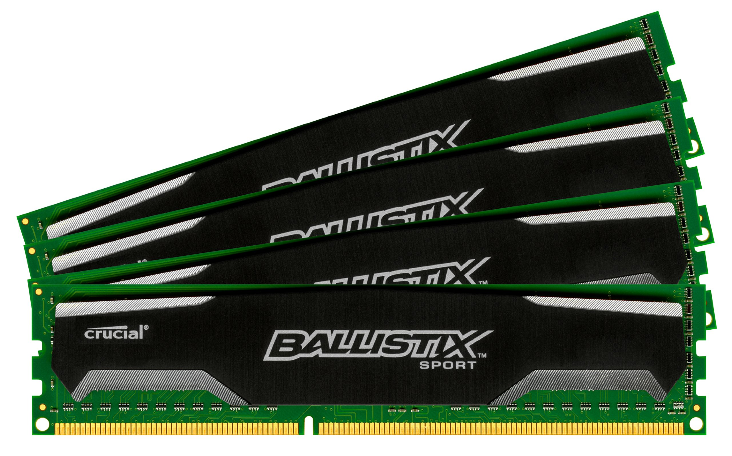 Ballistix Sport 16GB Kit (4GBx4) DDR3 1600 MT/s (PC3-12800) UDIMM 240-Pin Memory - BLS4KIT4G3D1609DS1S00