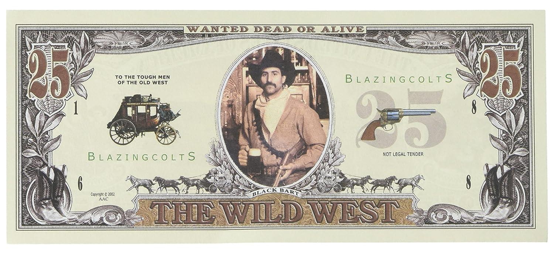 Set of 10 Bills-25 Dollar Wild West Bill American Art Classics PH-D8QH-1EA3