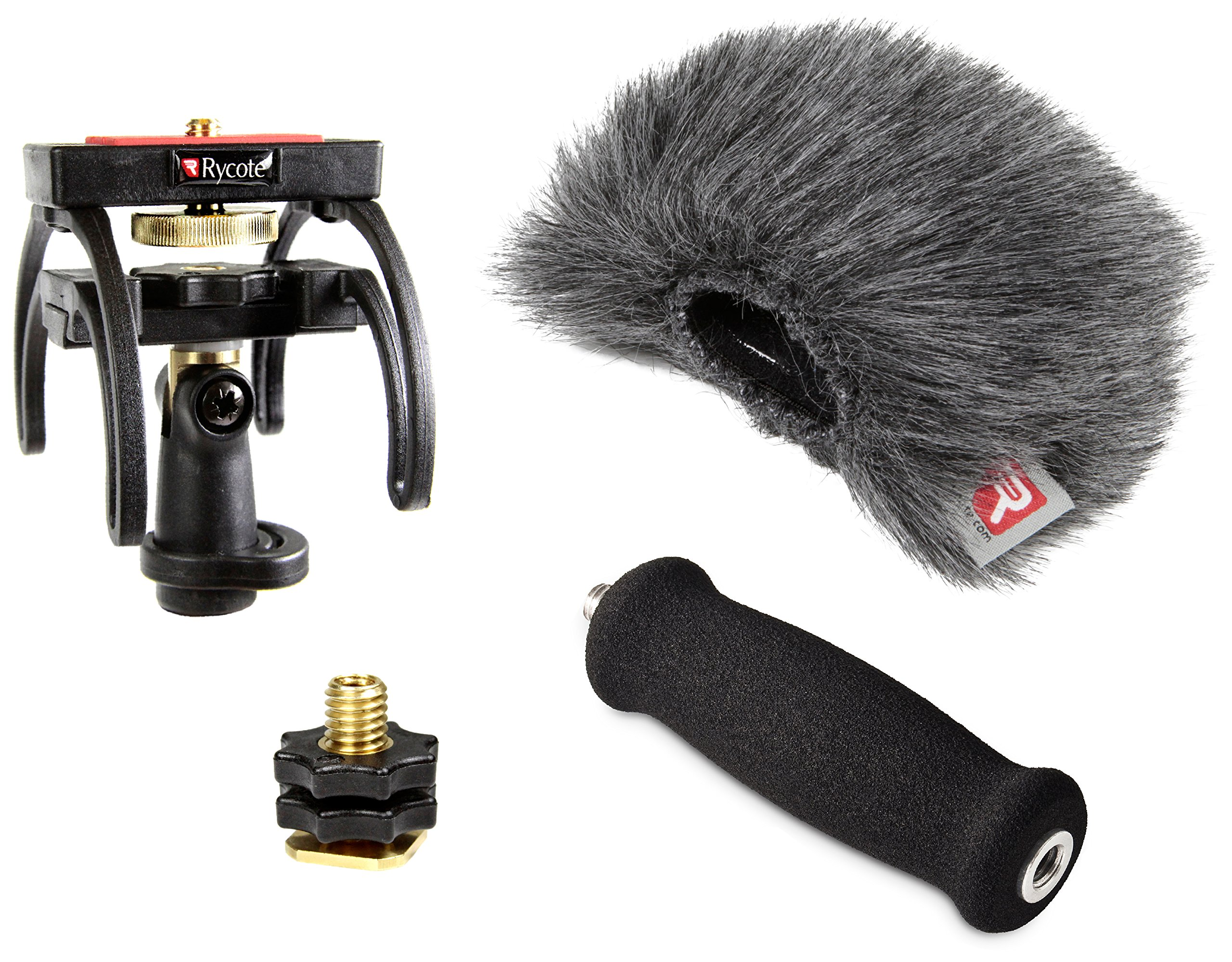 Rycote Portable Recorder Audio Kit for Zoom H1 Digital Recorder, Includes Suspension Mount, Mini Windjammer, Extension Handle, Swivel Adapter