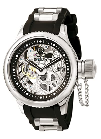Invicta 1088 Russian Diver Reloj para Hombre acero inoxidable Manual Esfera negro