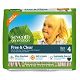 Amazon Price History for:Seventh Generation Baby Diapers, Free and Clear for Sensitive Skin, Original Unprinted, Size 4, 135 Count