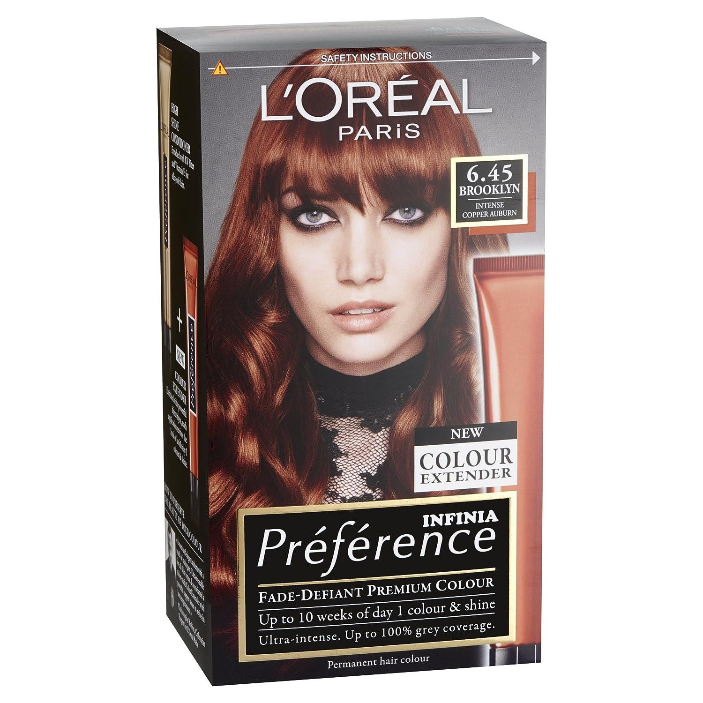 Preference Infinia Hair Dye 645 Brooklyn Intense Copper Auburn
