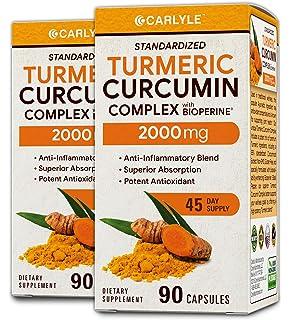 Amazon com: Turmeric Curcumin - 2250mg/d - 180 Veggie Caps - 95