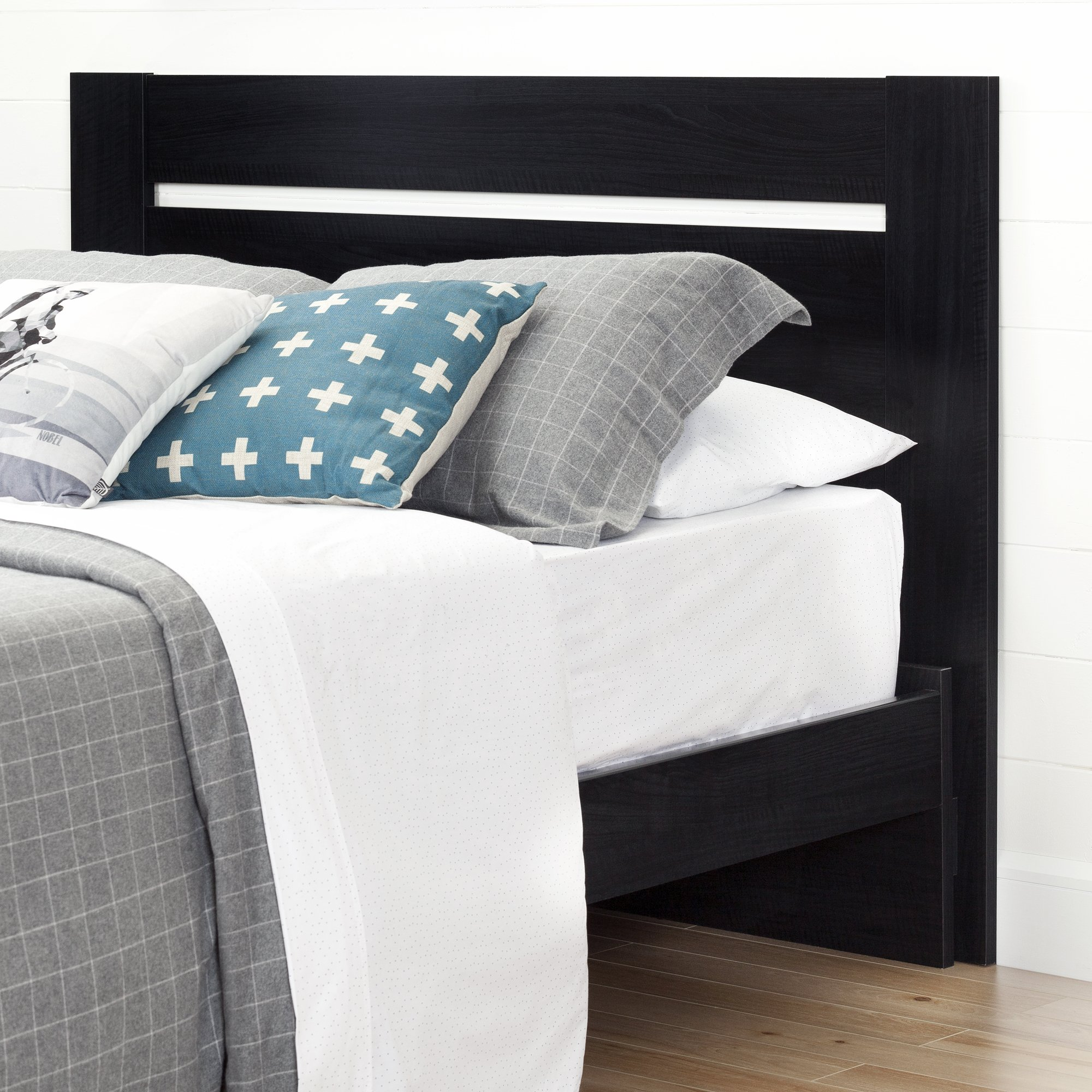 South Shore Reevo Full/Queen Headboard (54/60''), Black Onyx by South Shore (Image #2)