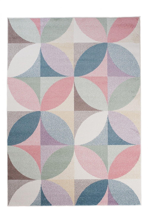 Tapiso Happy Teppich Kurzflor Modern Kinderteppich Creme Mehrfarbig Geometrisch Ornament Muster für Kinderzimmer Jugendzimmer ÖKOTEX 240 x 330 cm