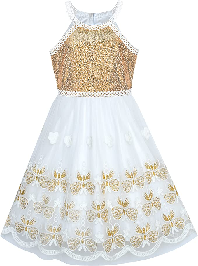 Amazon.com: Sunny Fashion - Vestido de fiesta para niña ...