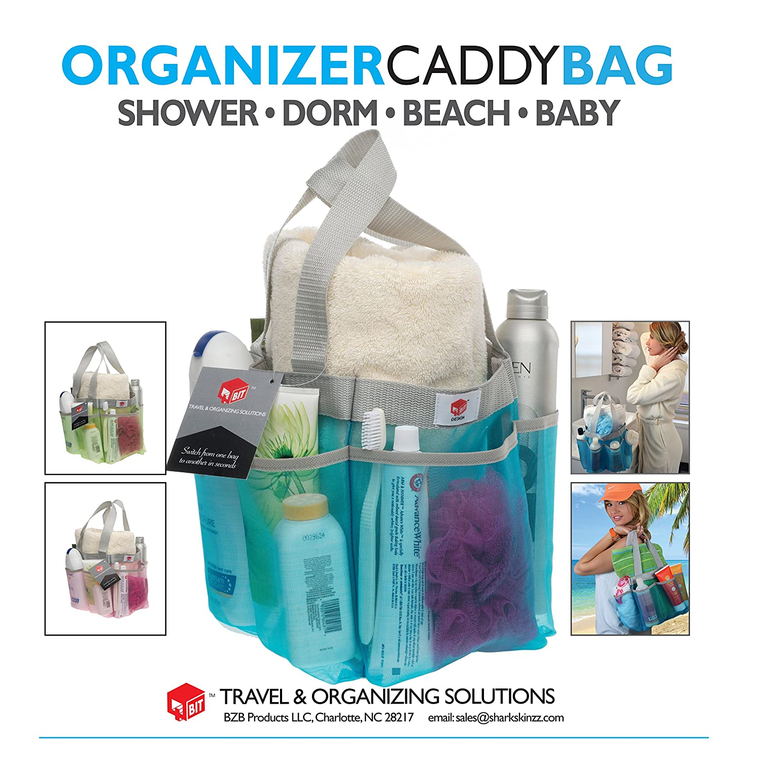 Amazon.com: Shower Caddy - Quick Dry Hanging Dorm Shower Caddy - Gym ...