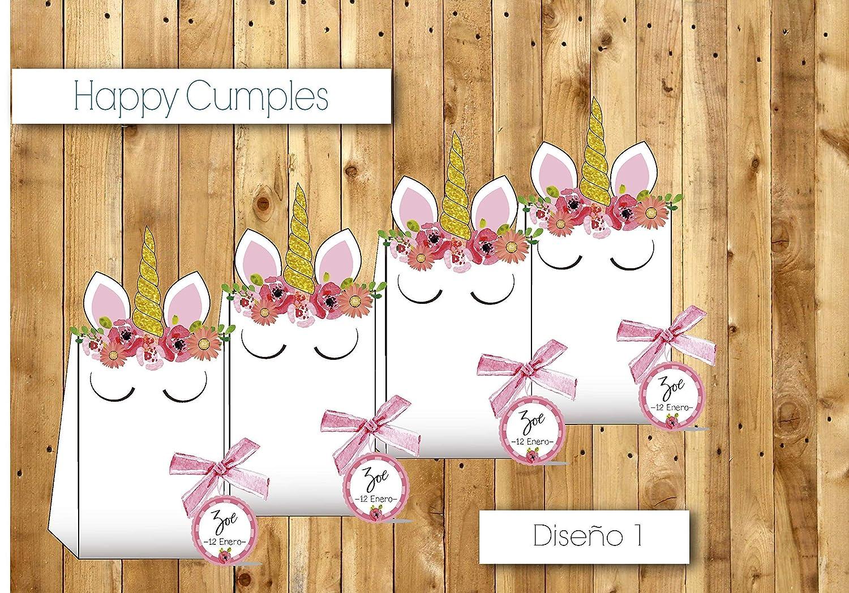 Unicornio Cumpleaños cole /12 cajas Chuches incluidos ...