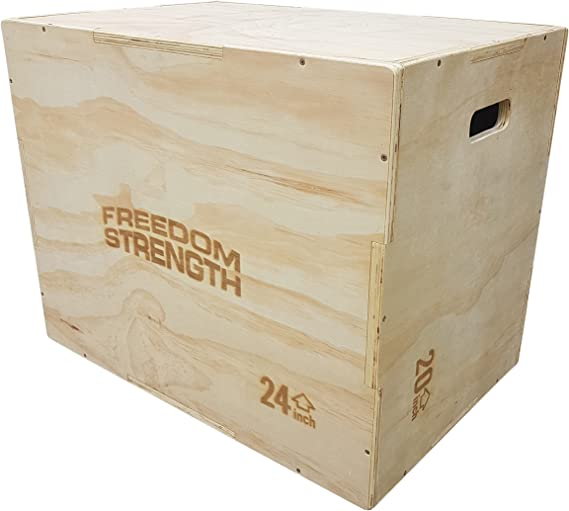 FreedomStrength® 3 en 1 caja de salto de madera para crossfit, mma, velocidad, potencia: Amazon.es: Deportes y aire libre