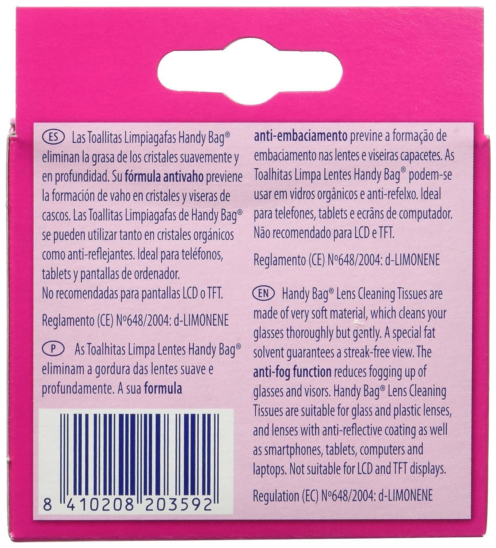 Handy Bag Toallitas Limpiagafas Envase Individual - 10 Unidades: Amazon.es: Amazon Pantry