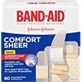 Band-Aid Brand Adhesive Bandages Sheer, Assorted Sizes, 80 Count