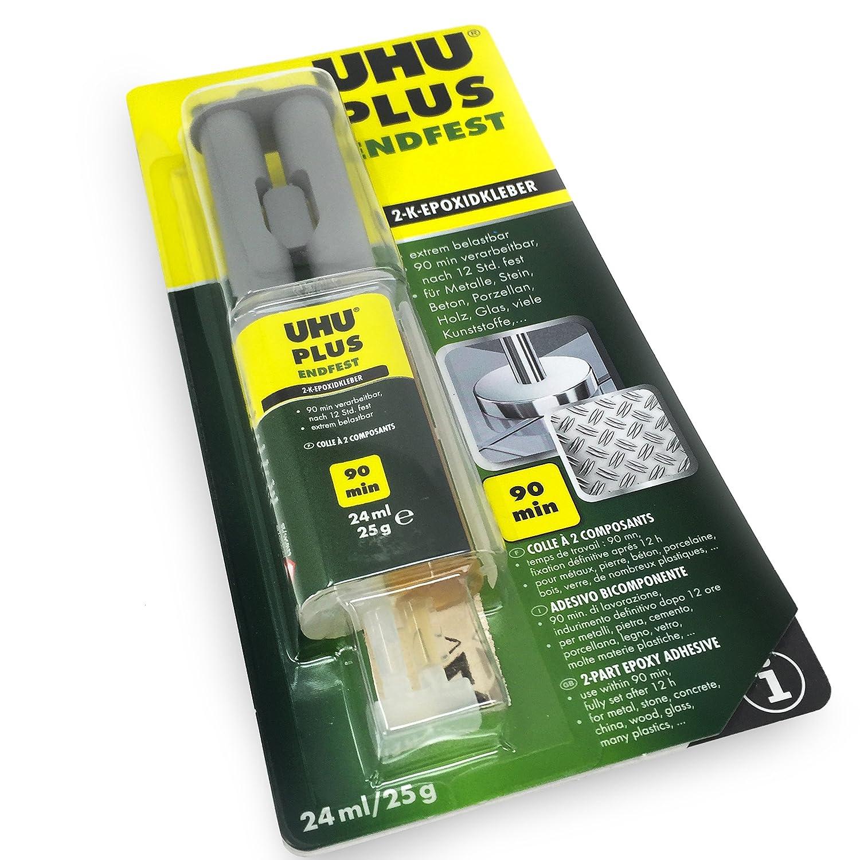 UHU epossidica Endfest Plus–Due parte adesiva–senza solventi–24ml UHU - OMG