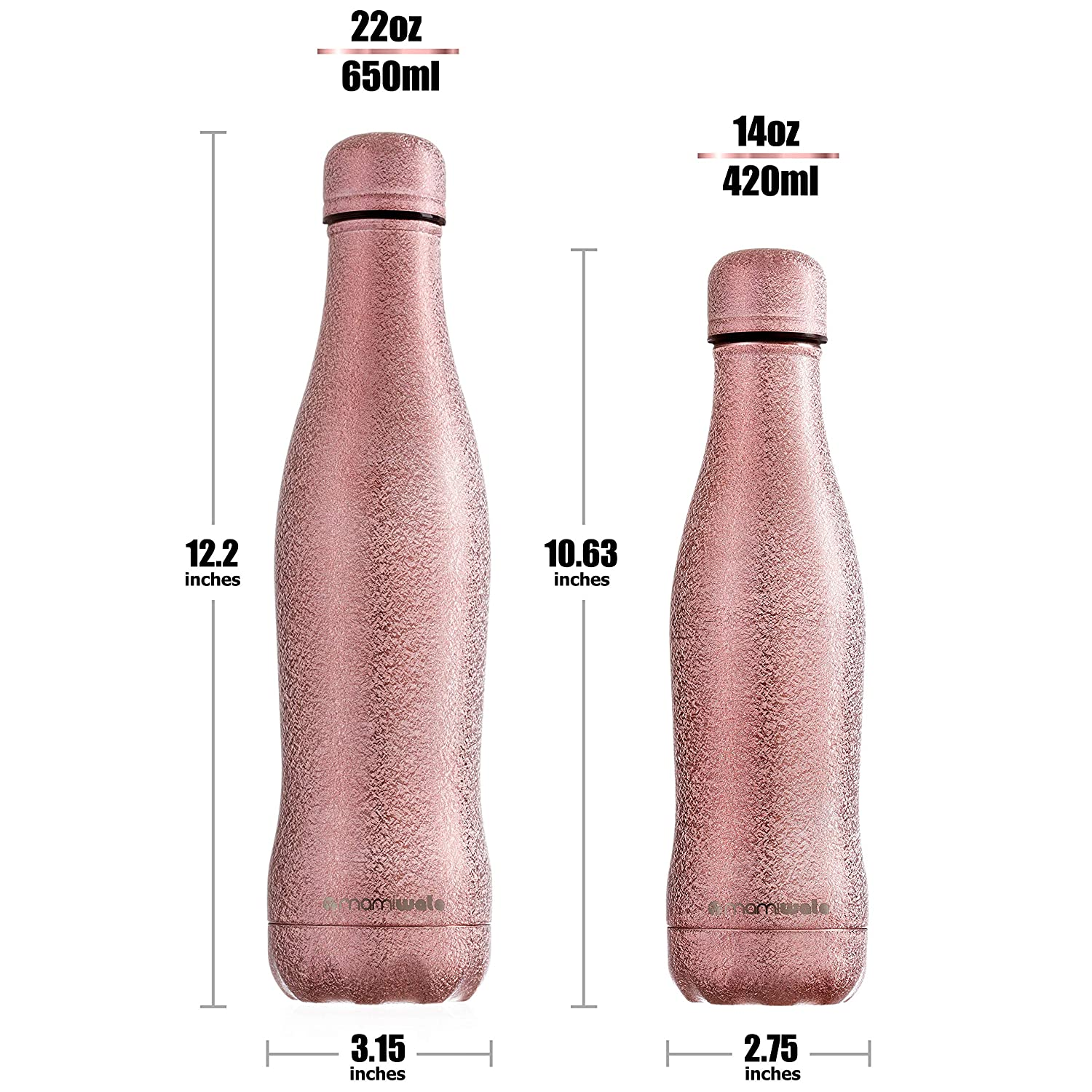 Beautiful Sparkle Coating The Perfect Gift Vacuum Insulated Double Walled Reusable bottle MAMI WATA Stainless Steel Water Bottle