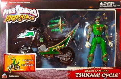 Amazon.com: Power Rangers Ninja Storm Green Samurai Tsunami ...