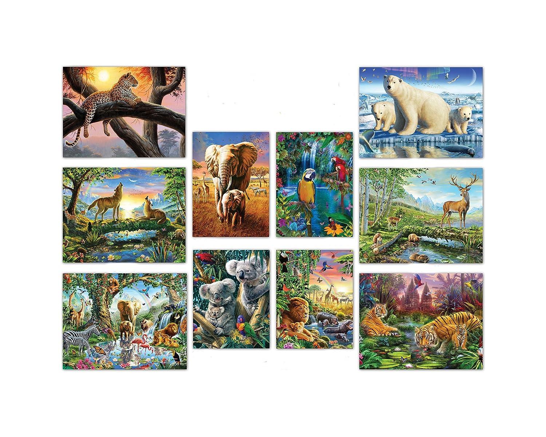 Ceaco 10-in-1 Multi Pack Animals Puzzle (100 Piece) Ceaco (Games) 3816-1