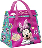 Zak! Designs Insulated Lunch Bag with Velcro Closure featuring Minnie Mouse & Bows, Reusable and BPA-free