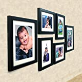 Ajanta Royal Set Of 6 Individual Photo Frames (4-6X8 And 2-8X10 Inch)-Black : A-89A