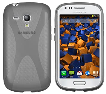 Mumbi X - Carcasa para Samsung Galaxy S3 Mini, Color Gris