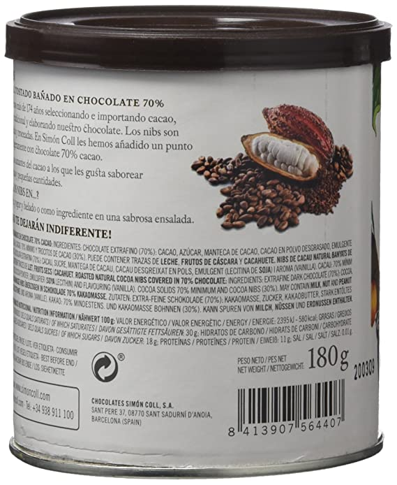 Chocolates Simón Coll, Cacao soluble - 180 gr.