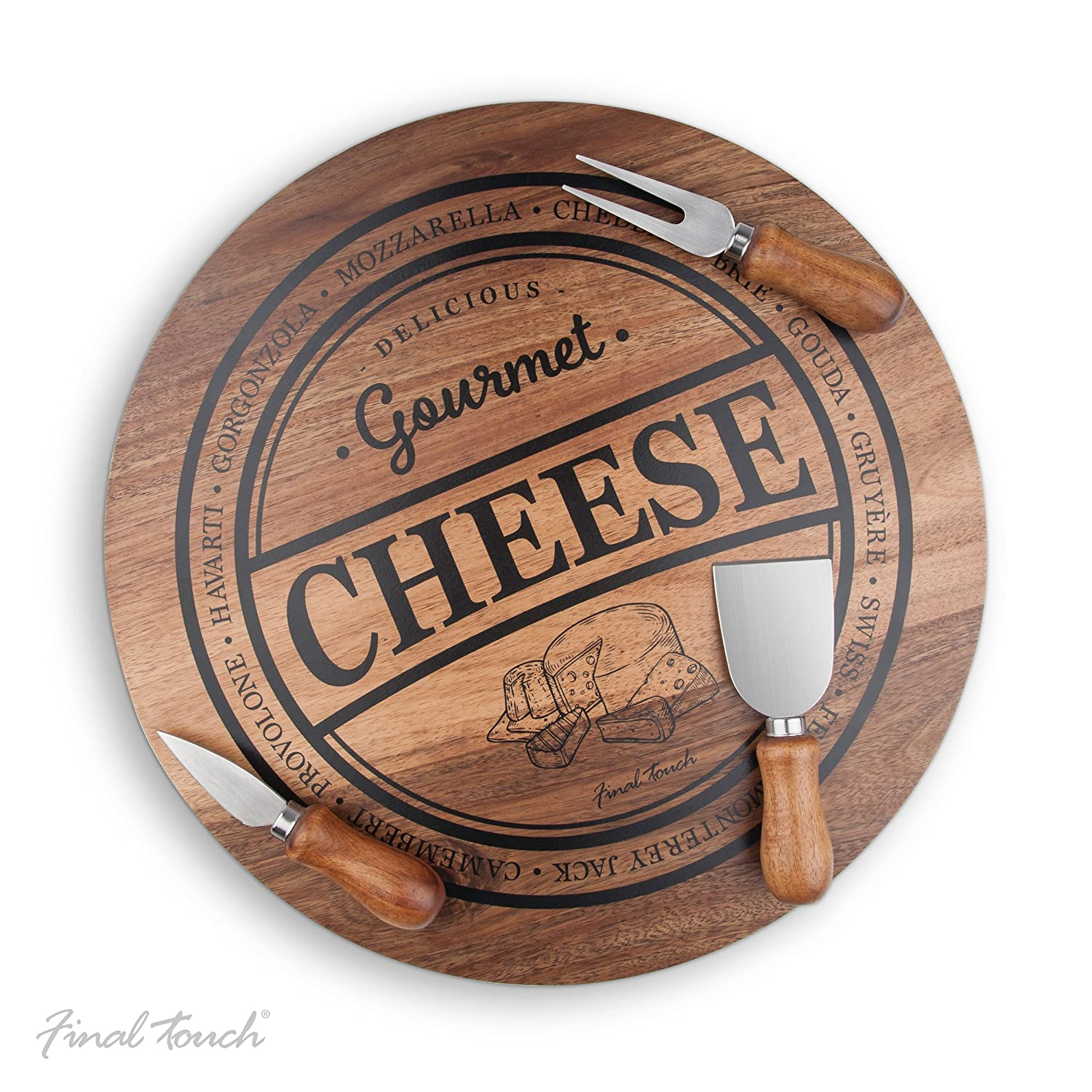 Final Touch 4pc Cheese Board Set Product Specialties Inc.