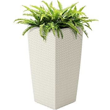 Amazon Com Best Choice Products Self Watering Wicker Planter W