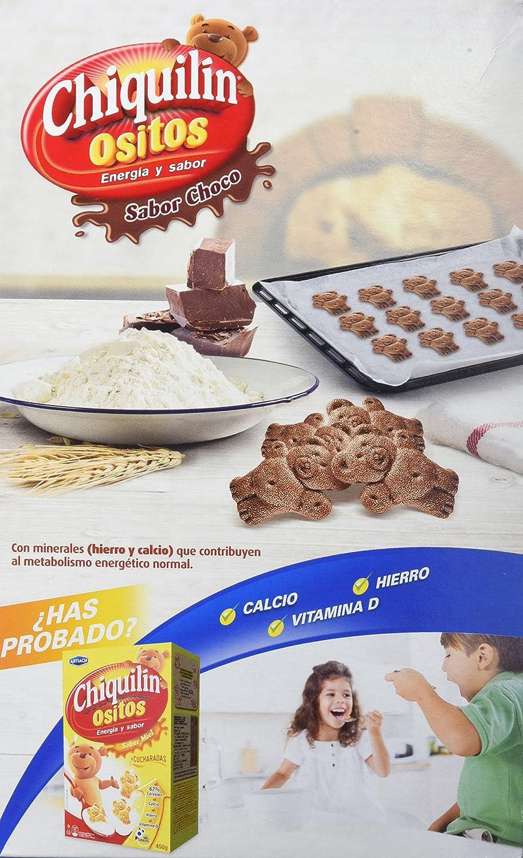 Artiach Chiquiln Ositos - Galletas de cereales sabor Chocolate, 450 g - [Pack de 4]: Amazon.es: Alimentación y bebidas