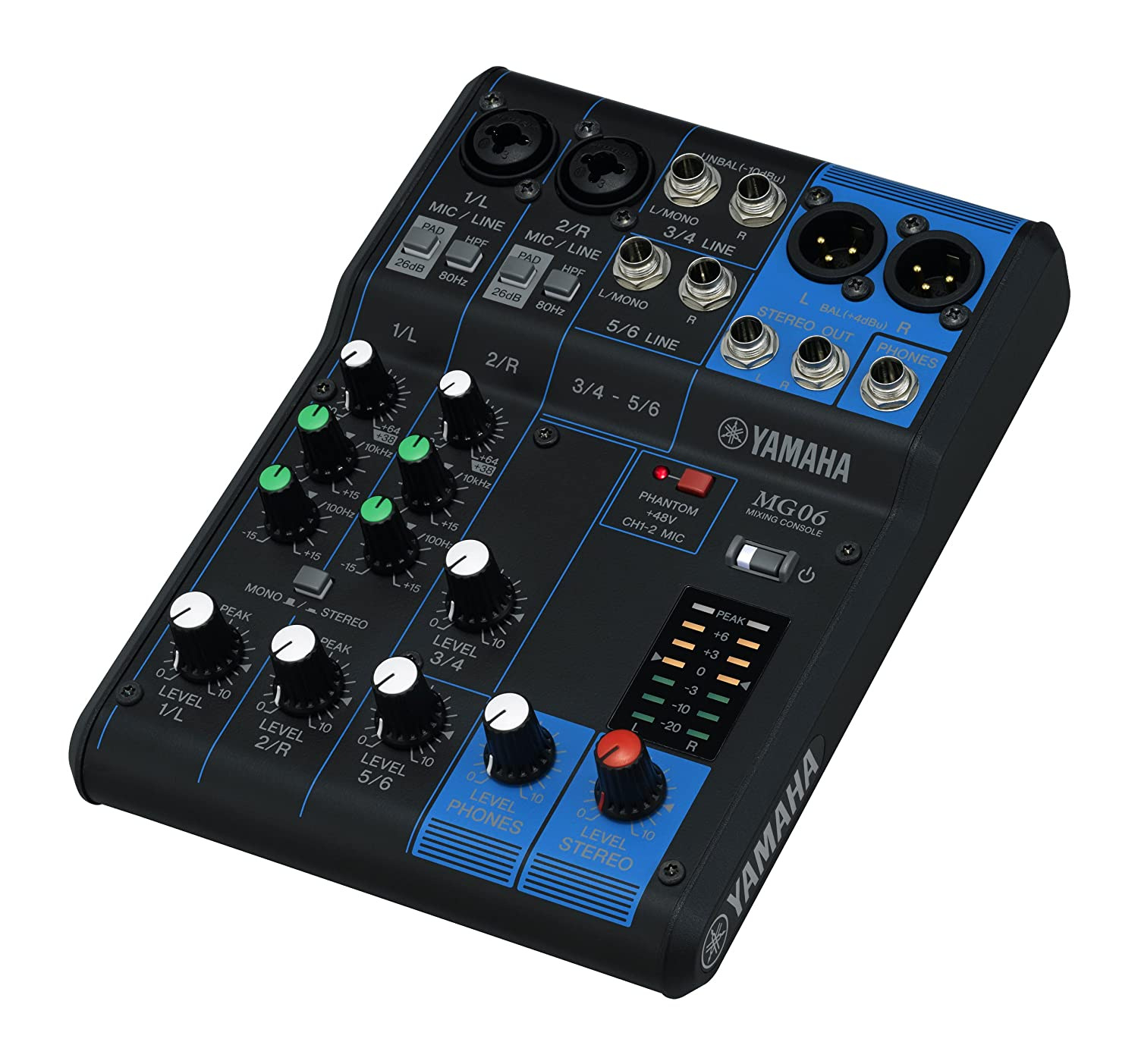Yamaha Mg06x 6 Input Compact Stereo Mixer With Effects Simple Audio Amplifier 2800w Circuit Diagram Nonstopfree Electronic Musical Instruments
