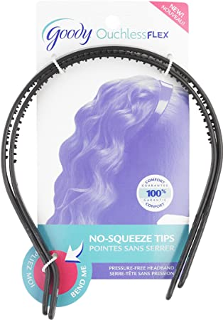 Goody Ouchless Flex Thin Pressure Free Headband 2 Count Pack Of 3