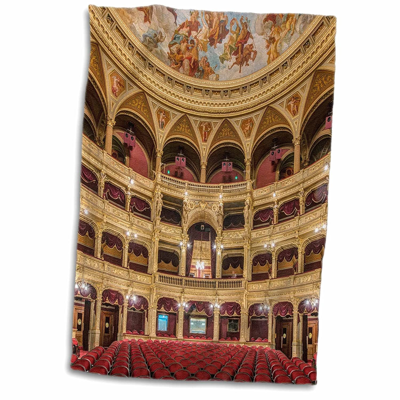 3D Rose Hungary Budapest Hungarian State Opera House TWL/_207391/_1 Towel 15 x 22