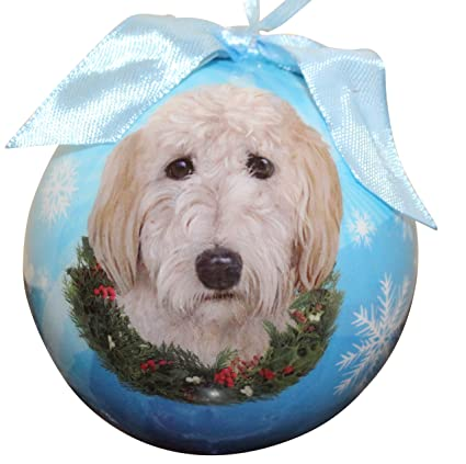 goldendoodle christmas ornament shatter proof ball easy to personalize a perfect gift for goldendoodle lovers - Goldendoodle Christmas Decorations