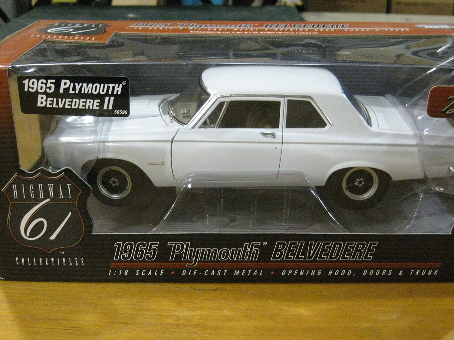Amazon.com: 1965 PLYMOUTH BELVEDERE WHITE 1:18 HIGHWAY 61 DIECAST ...