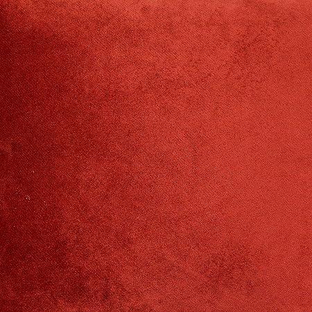 Orange New Soft Plain Flock Velvet Upholstery Curtains Chairs Cushions Fabrics