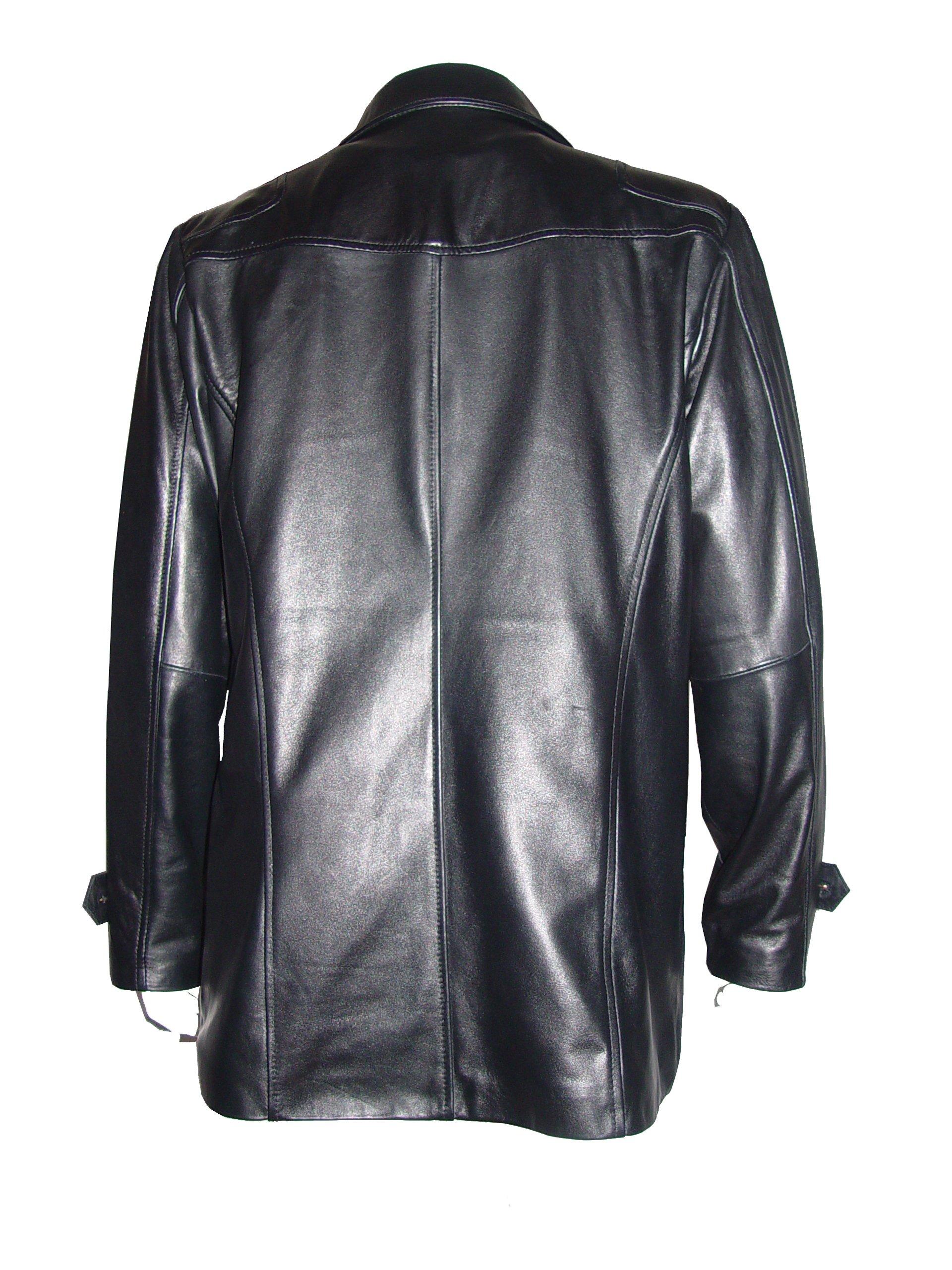 Nettailor Tall Big Man 1070 BIG TALL Size 4 Season Leather Fancy Casual Blazer by NETTAILOR (Image #2)