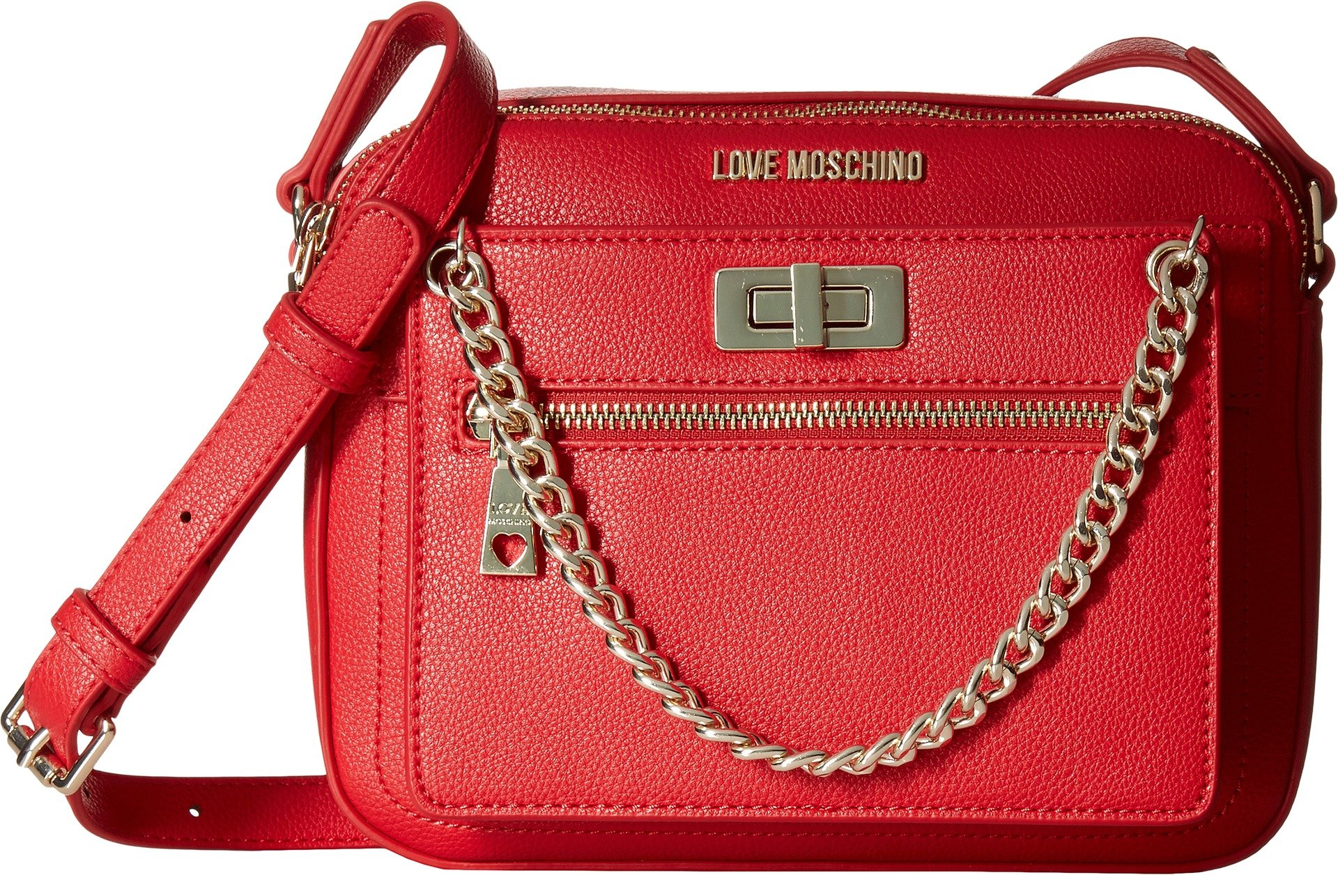 LOVE Moschino Women's Crossbody with Detachable Wristlet Red Crossbody Bag by Love Moschino (Image #1)