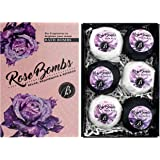 "BRUBAKER Bath Bombs Gift Set""Rose Bombs"" - 6 Handmade Luxury Spa Bath Fizzies - All Natural, Vegan, Organic Ingredients - Macadamia Nut Oil, Olive Oil, Almond Oil and Aloe Vera Moisturizes Dry Skin"