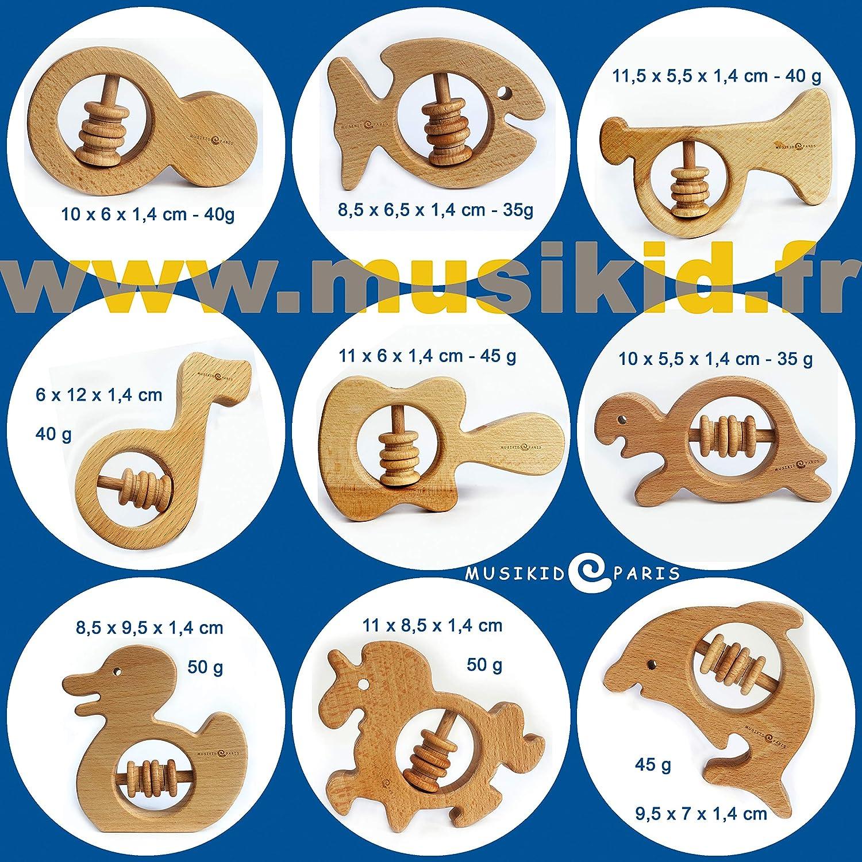 Poisson, ours, papillon, canard nourrissons et tout-petits paquet de 4 anneaux de dentition b/éb/é Anneau de dentition en bois pour b/éb/és Anneau de dentition en bois
