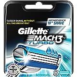 Ancienne version - Gillette Mach3 Turbo - Lames de Rasoir pack de 8