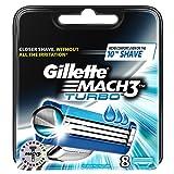 Gillette Mach3 Turbo Men's Razor Blades - 8 Refills